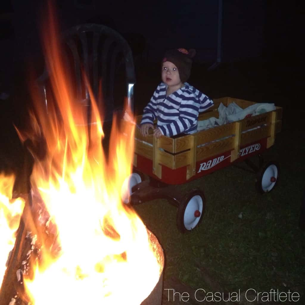 My daughter's first bonfire last year in Oct. 2012