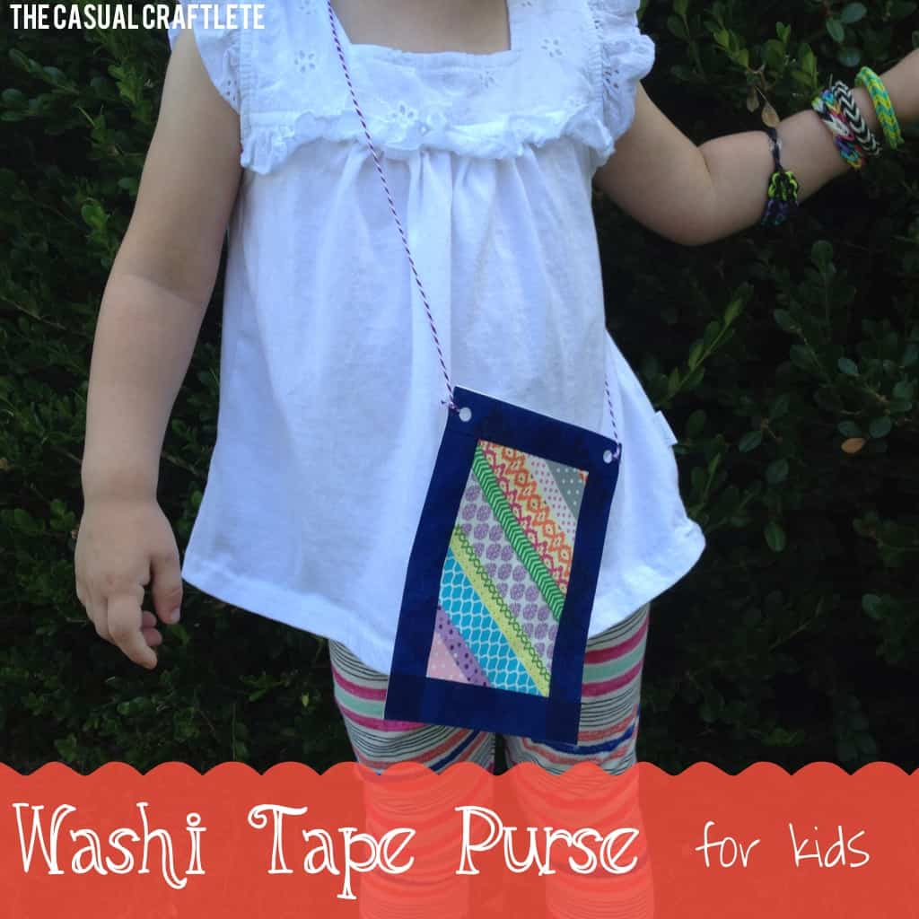 Washi Tape Purse for Kids