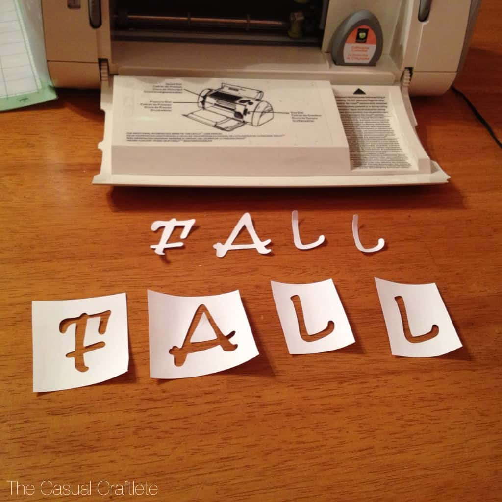 Using a Cricut to make letter stencil