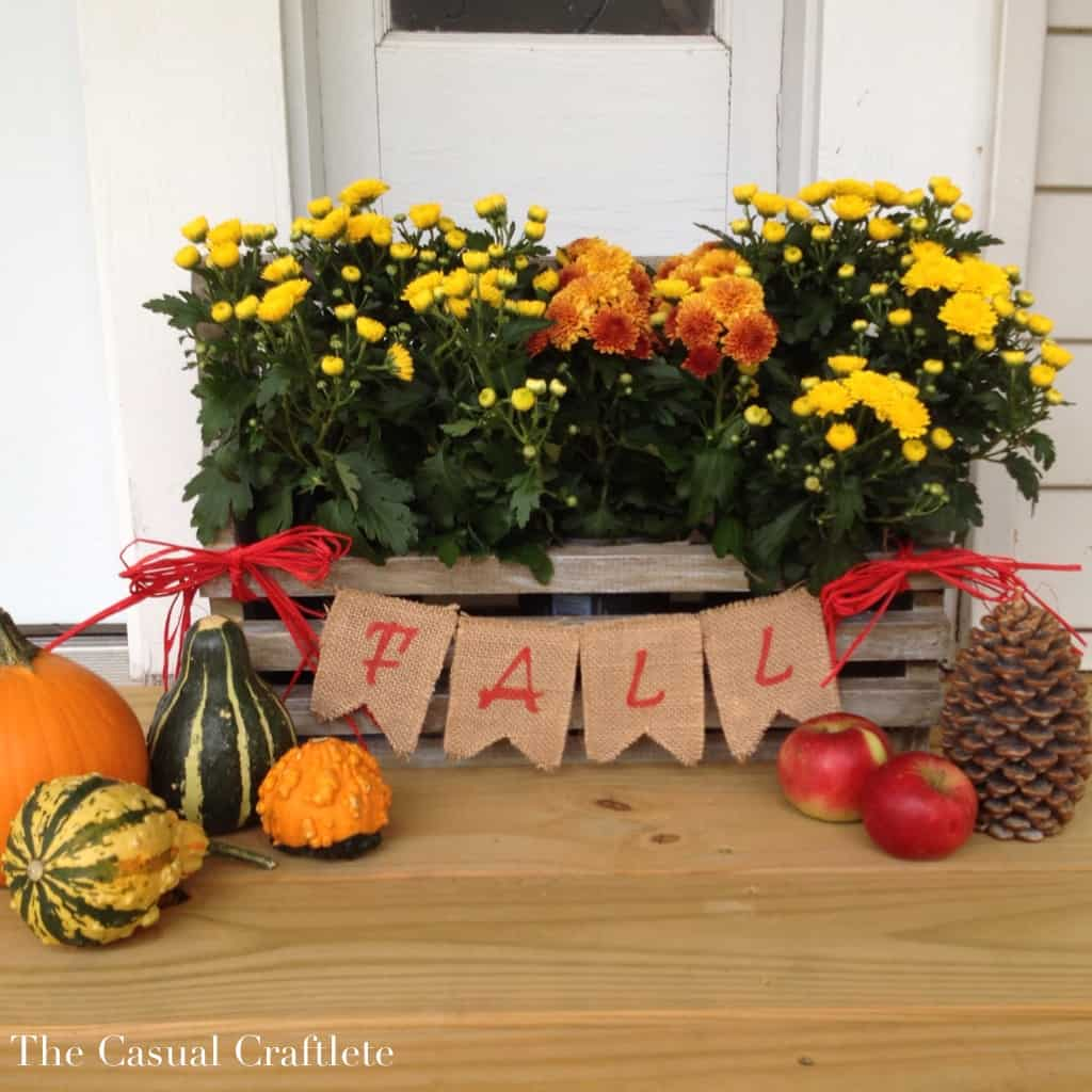Burlap and Raffia Banner for fall