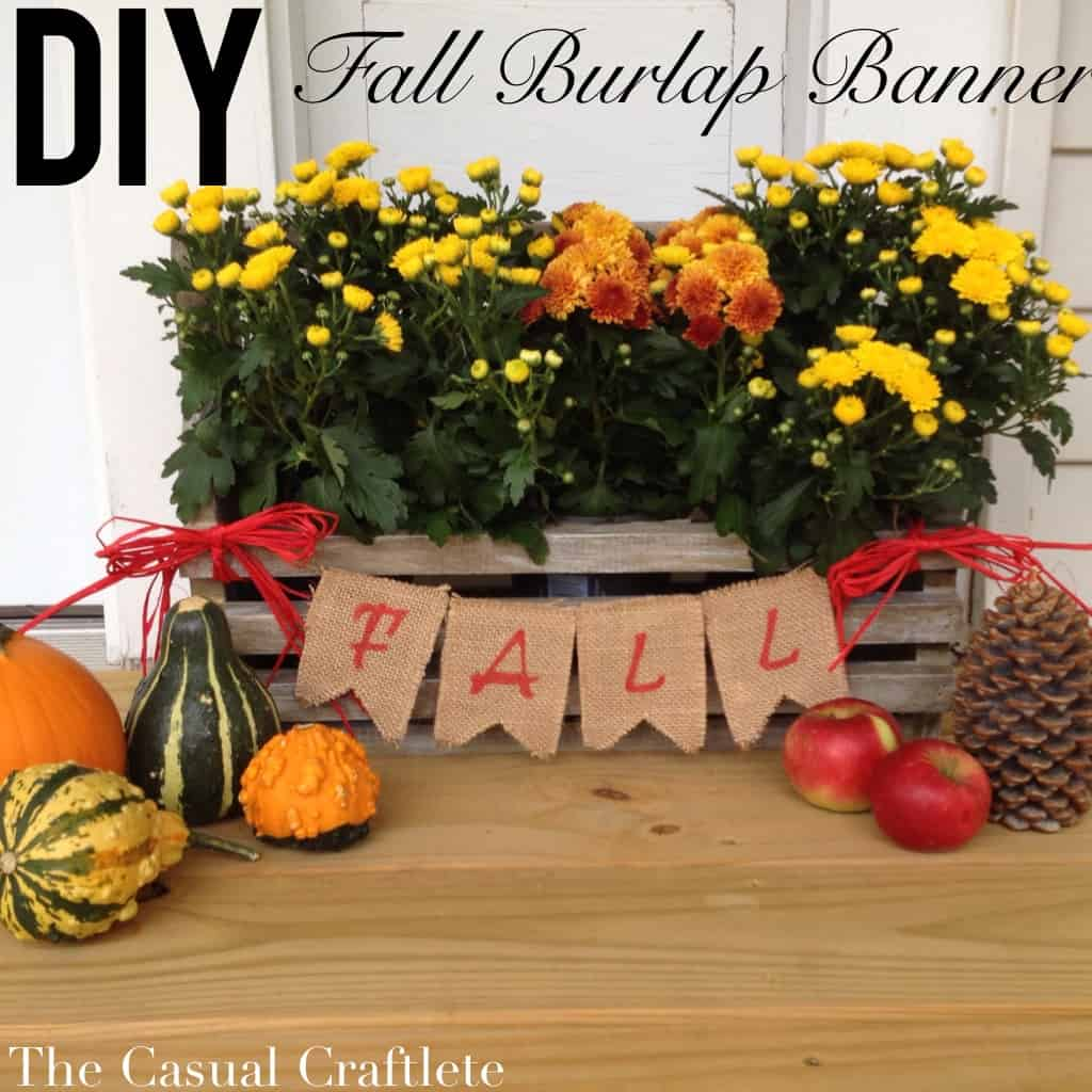DIY Fall Burlap Banner