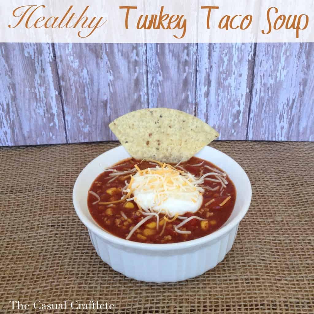 Healthy Turkey Taco Soup