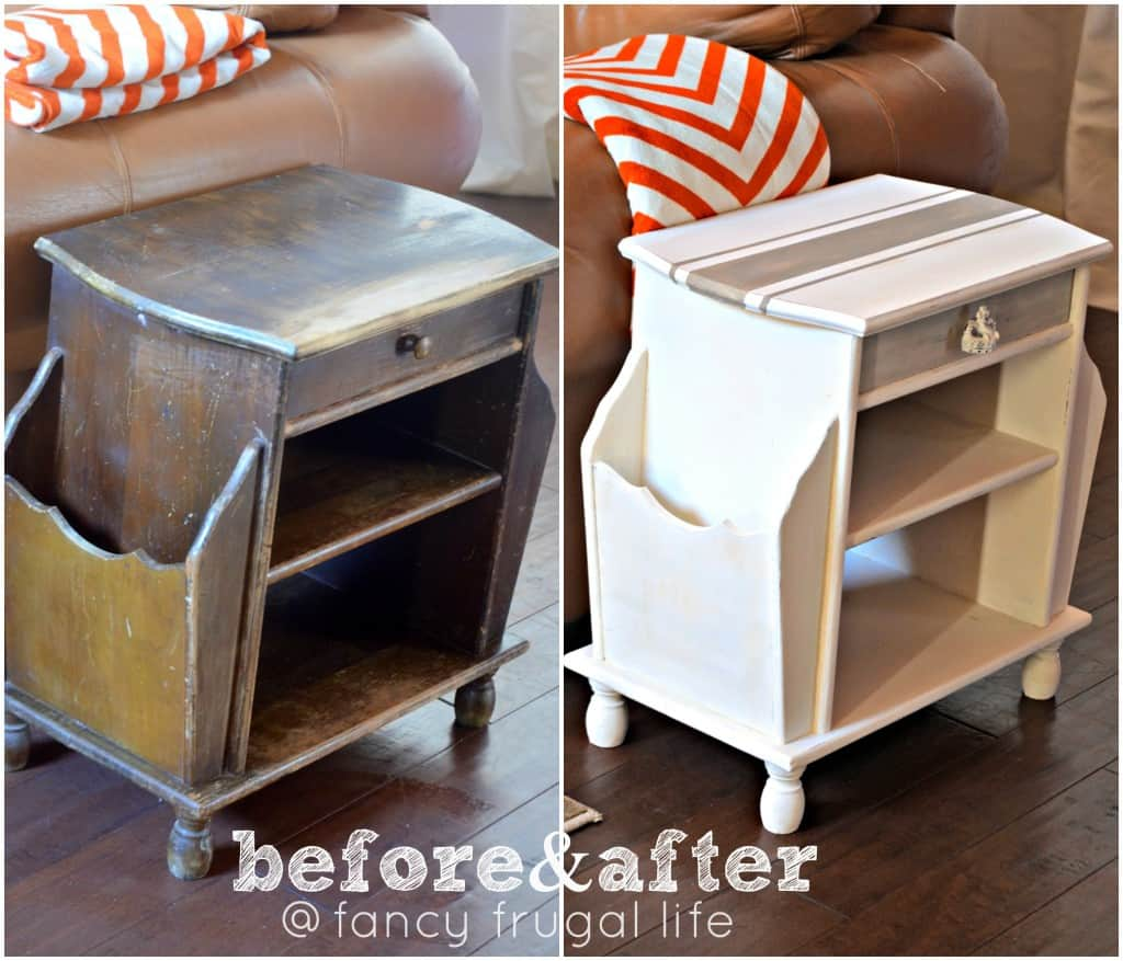 before-and-after-grain-sack-Annie-Sloan-painted-table-
