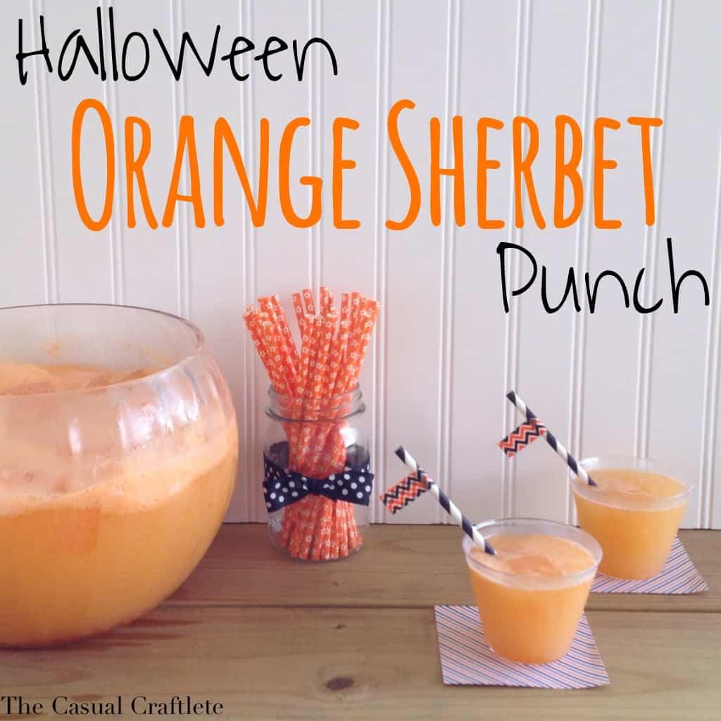 Halloween Orange Sherbet Punch