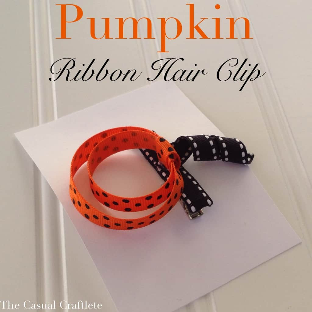Pumpkin Ribbon Hair Clip by The Casual Craftlete