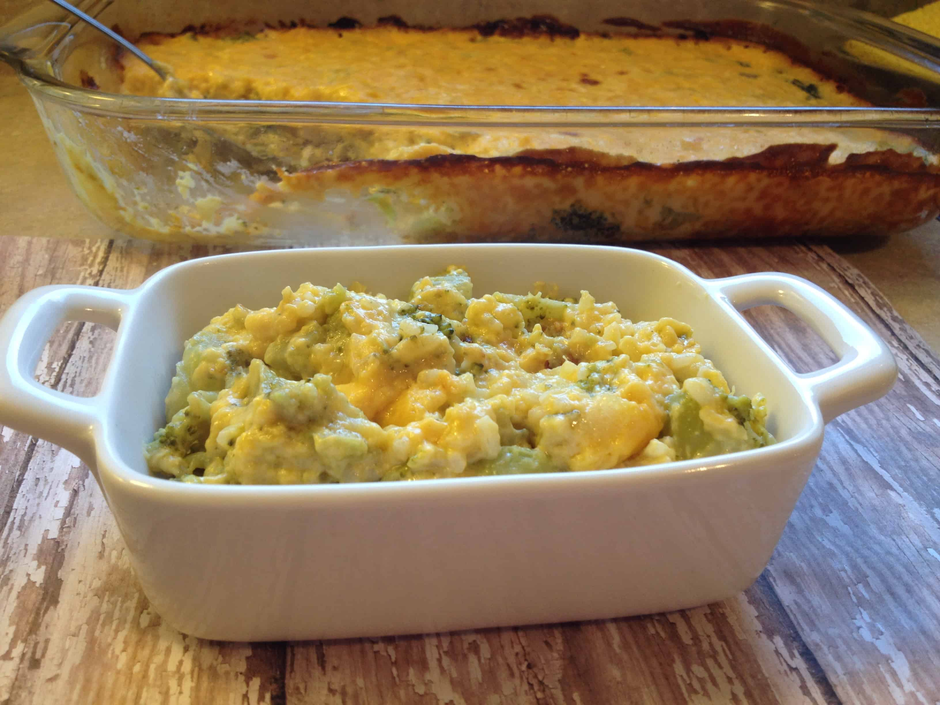 Broccoli Cheese Rice Casserole - The Casual Craftlete - A Creative ...