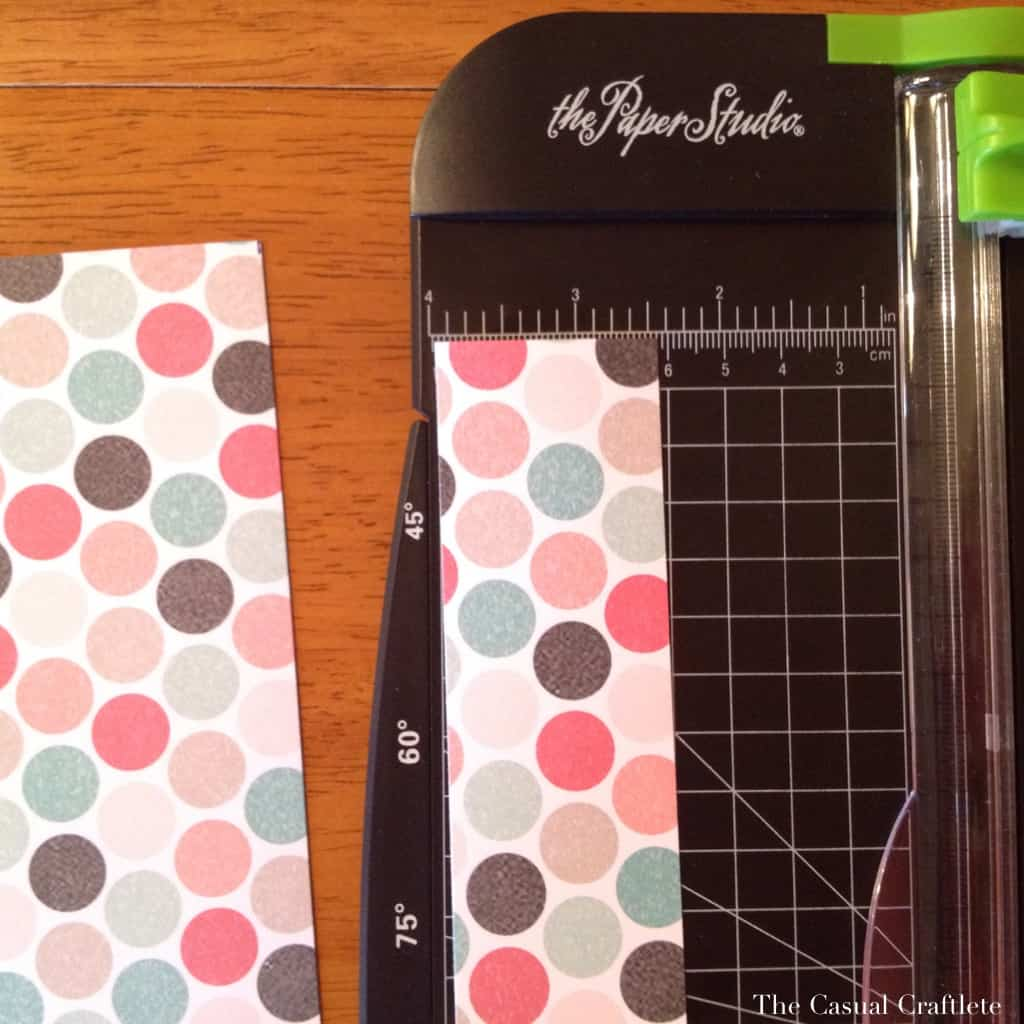 How to make a paper rosette using scrapbook paper
