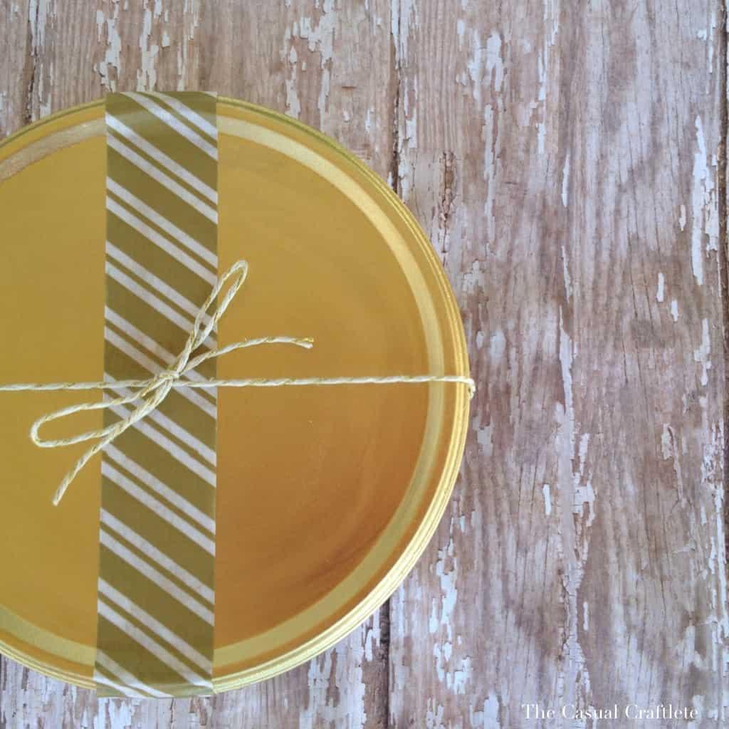 DIY Gold Spray Painted Cookie Tin