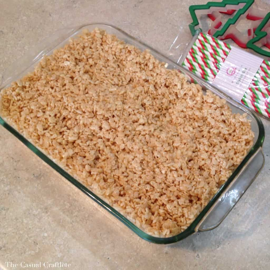 Christmas Rice Krispies Dipped in White Chocolate
