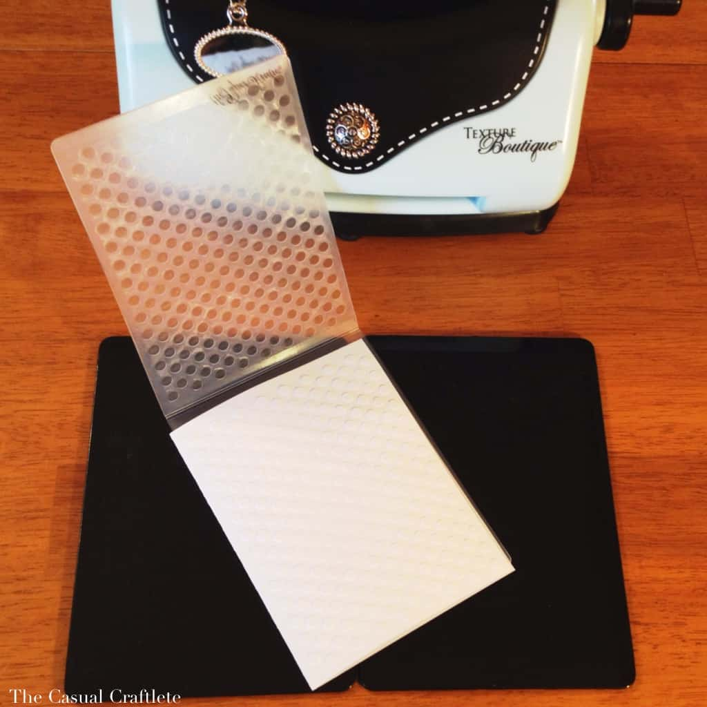 Using the Sizzix Texture Boutique embossing machine