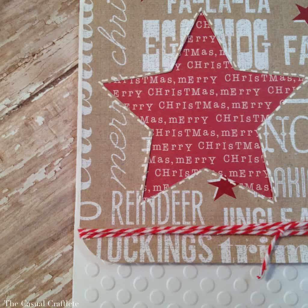 Rustic Christmas Star Handmade Card