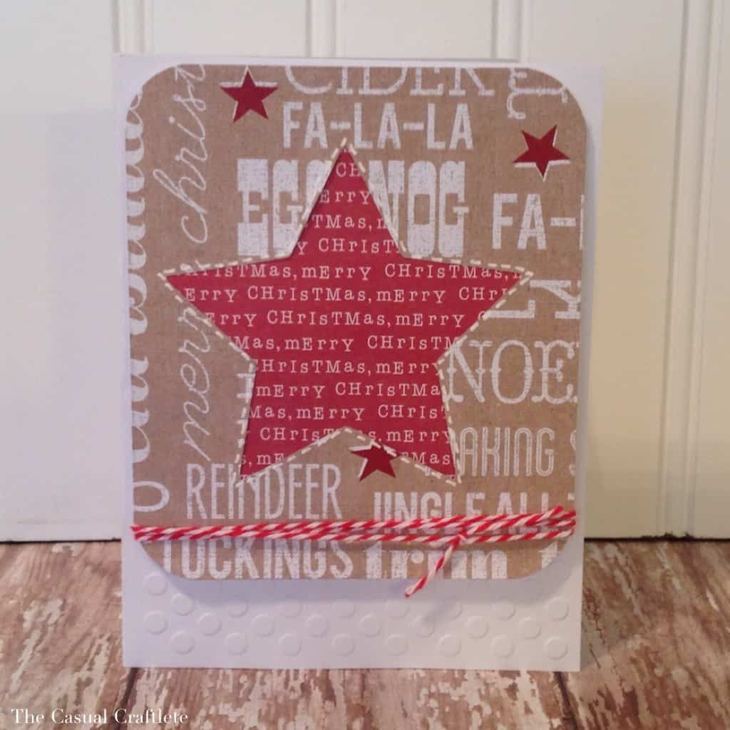 Rustic Christmas Star Card
