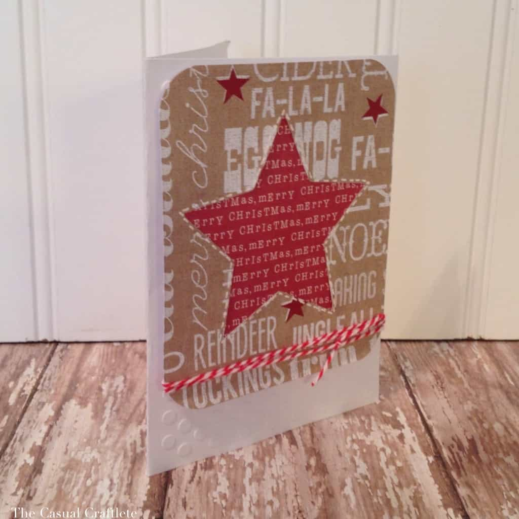 Rustic Christmas Star Card by The Casual Craftlete