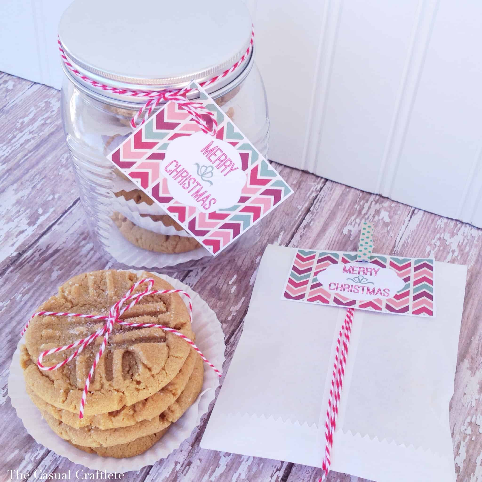 Best Ever Peanut Butter Cookie Recipe Plus {Free Printable Merry Christmas Tags}