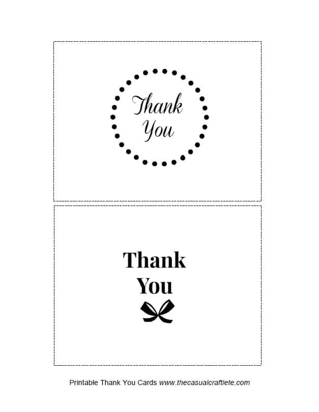 Printable Thank You Cards 1