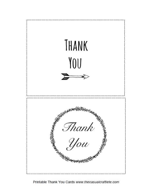 Printable Thank You Cards 2