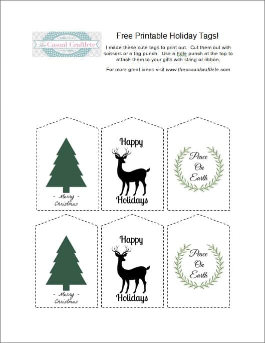 picture about Free Printable Holiday Tags known as Totally free Printable Getaway Tags - Purely Katie