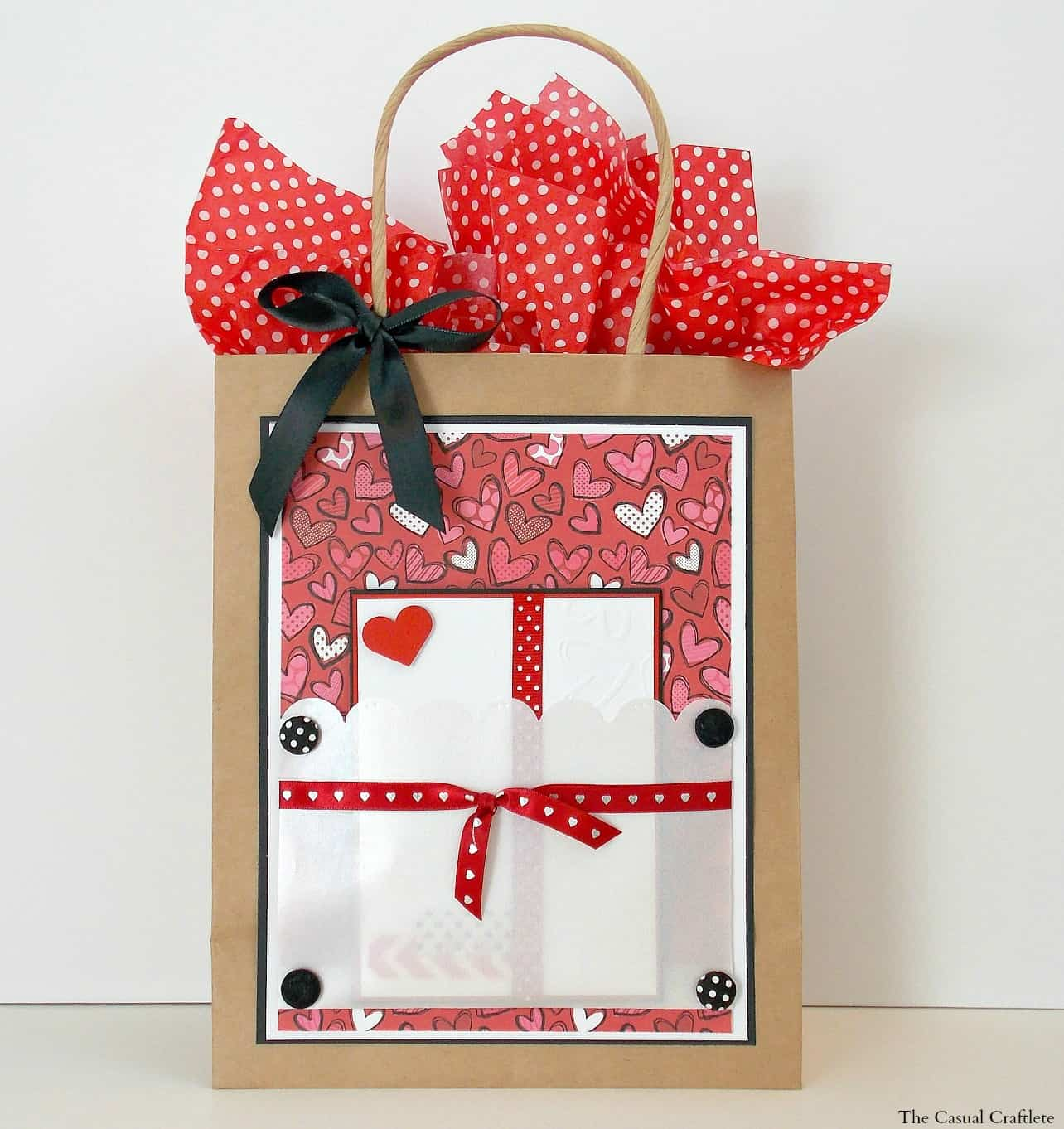DIY Gift Bag with card pocket 2