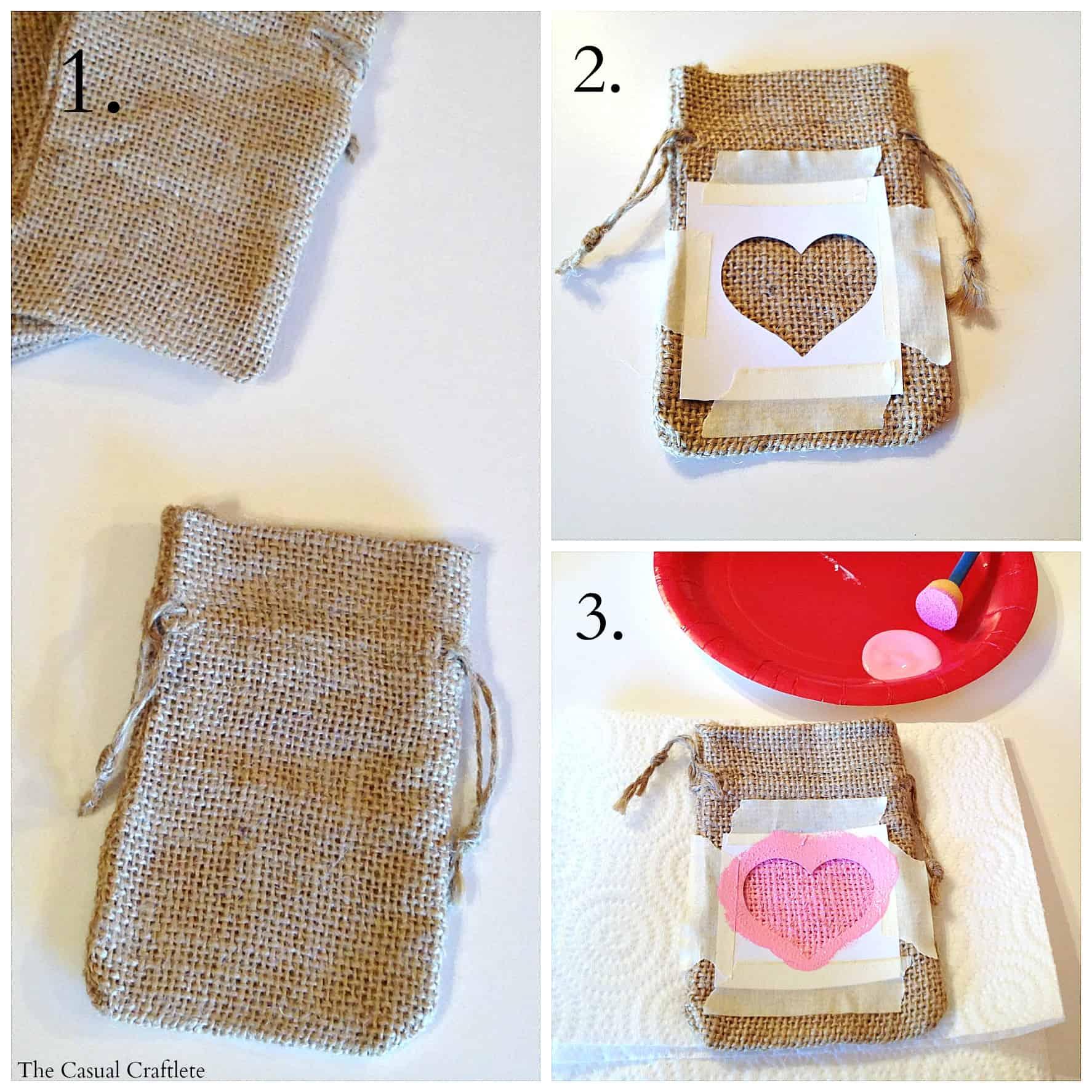 Diy Valentine S Day Burlap Gift Bags