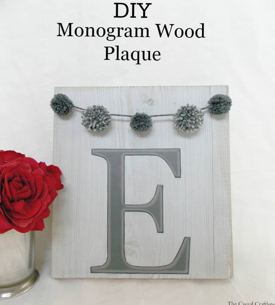 DIY Monogram Wood Plaque