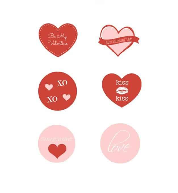 6 FREE Printable Valentine Tags