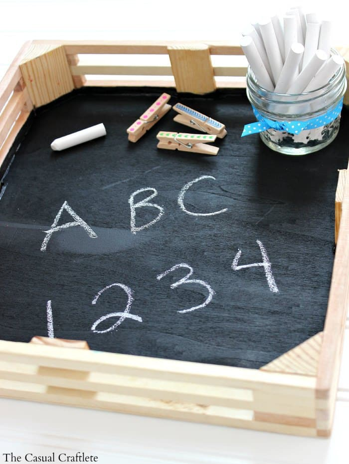 Easy DIY Kids Chalkboard Tray