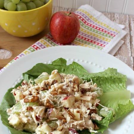 Apple Grape Pecan Chicken Salad
