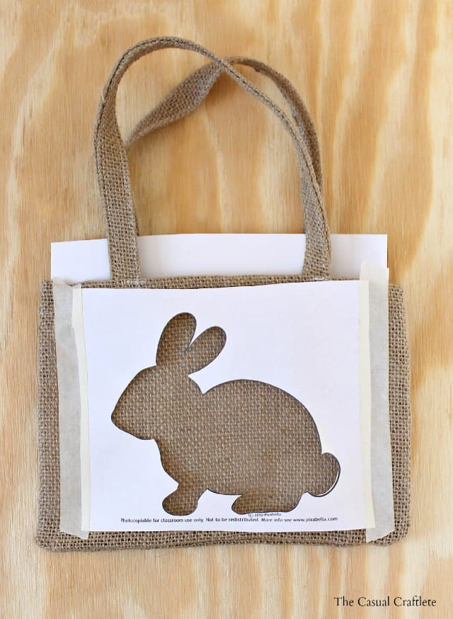 How to make a stencil to use on burlap