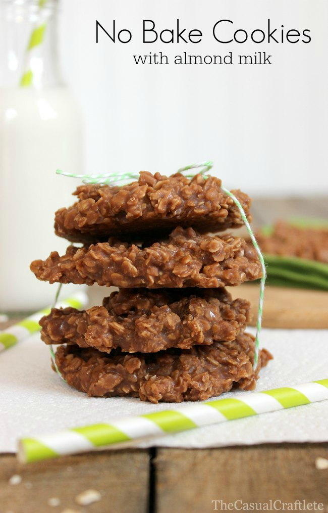 No Bake Cookies with Almond Milk | The Casual Craftlete