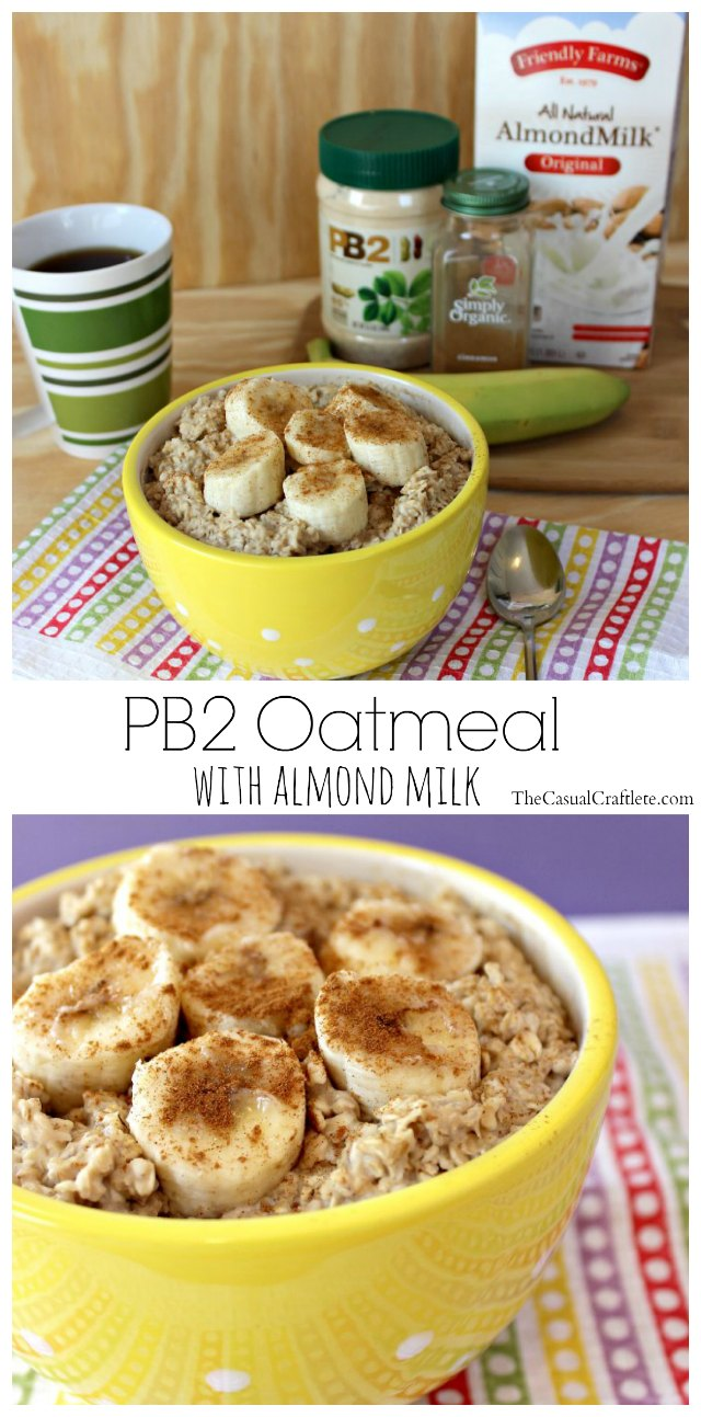 PB2 Oatmeal with Almond Milk 2
