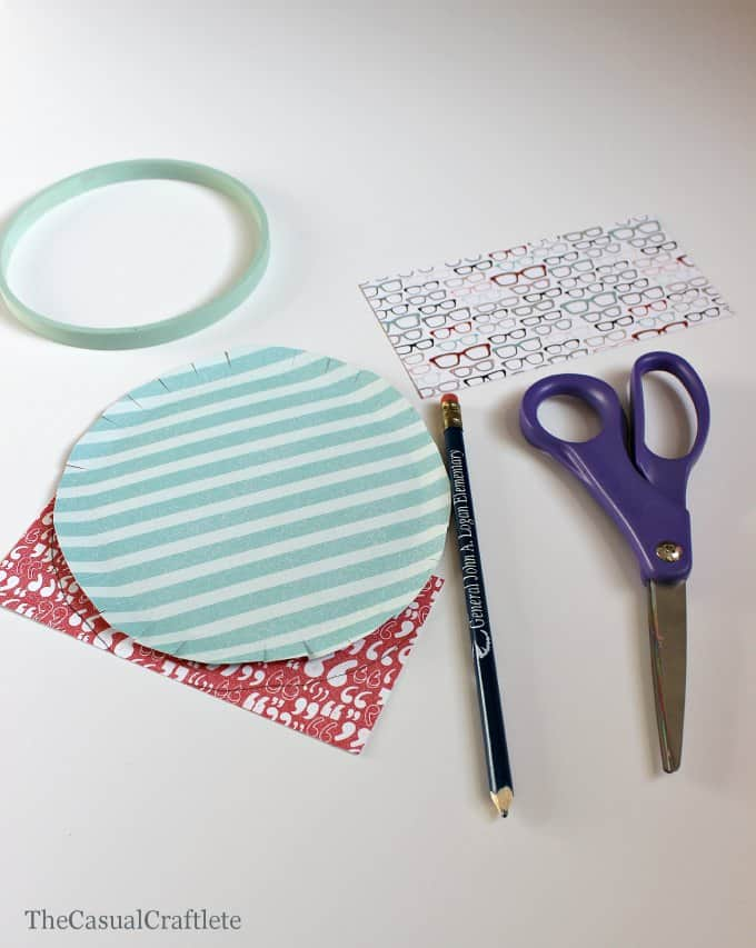 Using Paper in a Embroidery Hoop