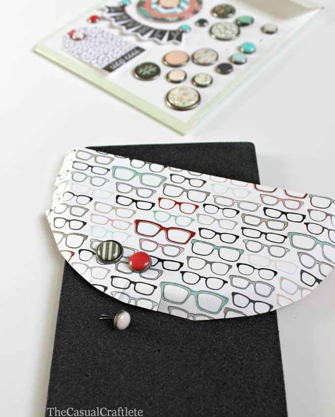 Using brad for embellishing a gift card holder