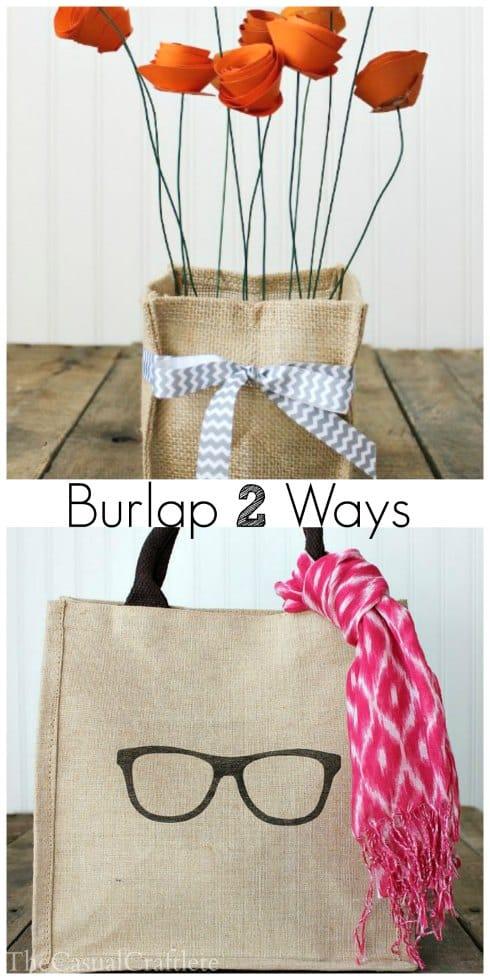 Burlap 2 Ways