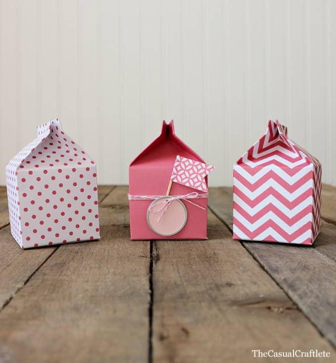 Paper Milk Carton Party Favors
