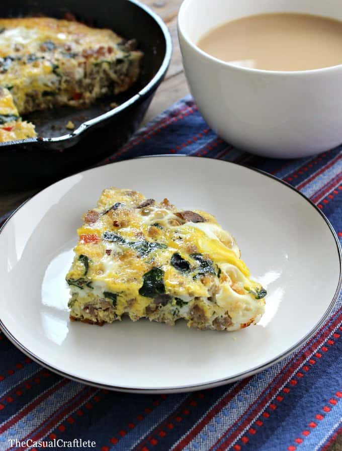 Sausage and Veggie Frittata  The Casual Craftlete