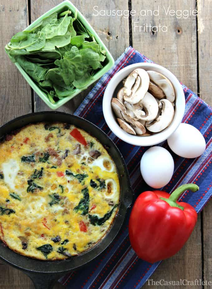Sausage and Veggie Frittata | www.thecasualcraftlete.com