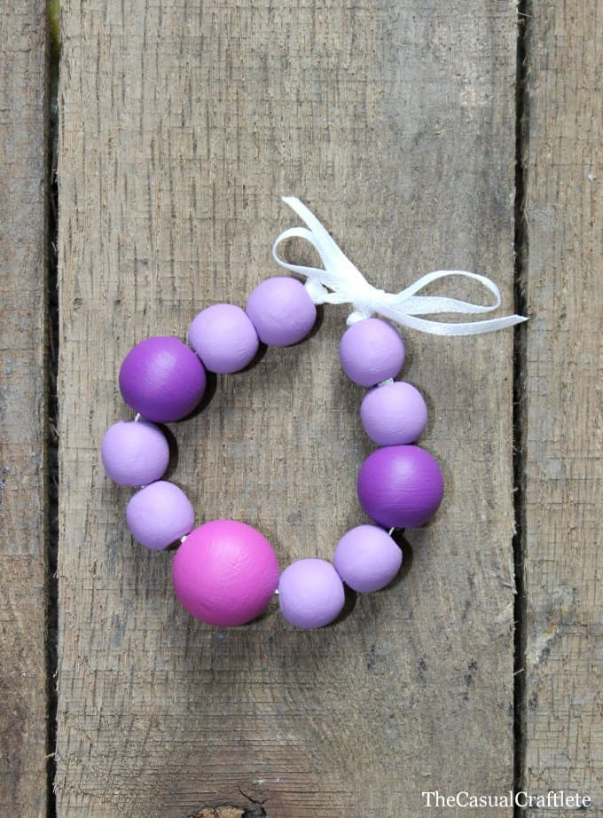 Painted Wooden Bead Bracelet