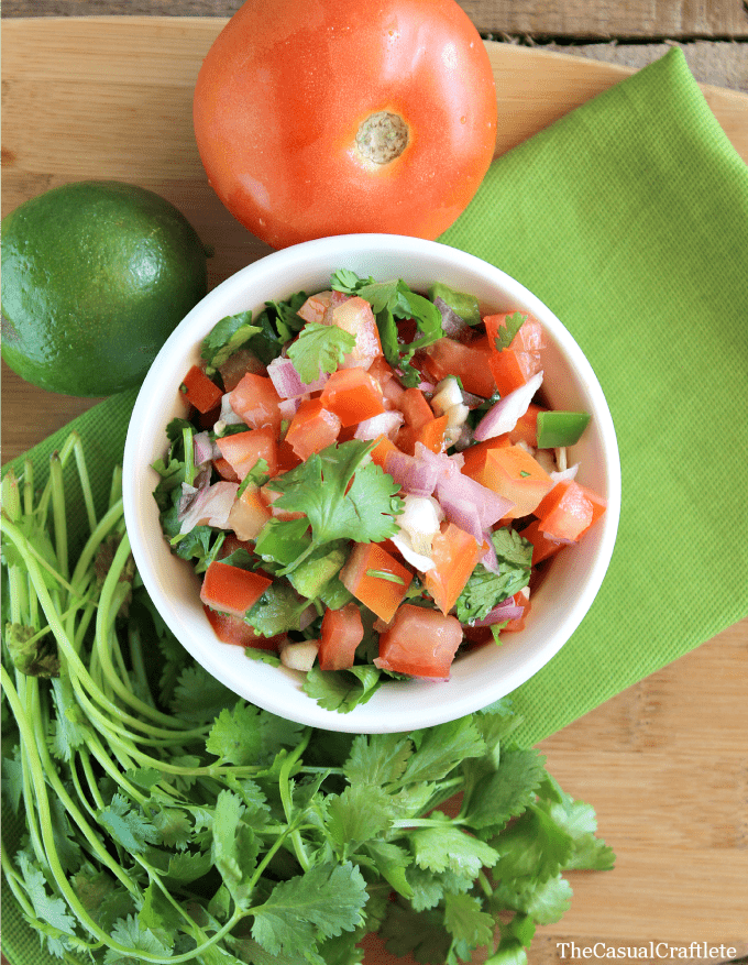 Homemade Pico De Gallo The Casual Craftlete