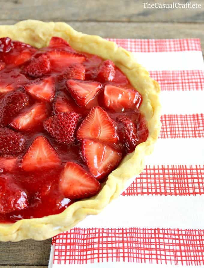Homemade Strawberry Pie Recipe The Casual Craftlete