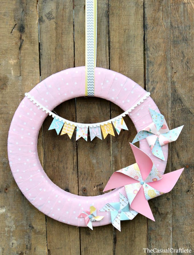 Summer Wreath The Casual Craftlete