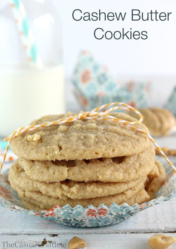 Cashew Butter Cookies by The Casual Craftlete for Place of my Taste