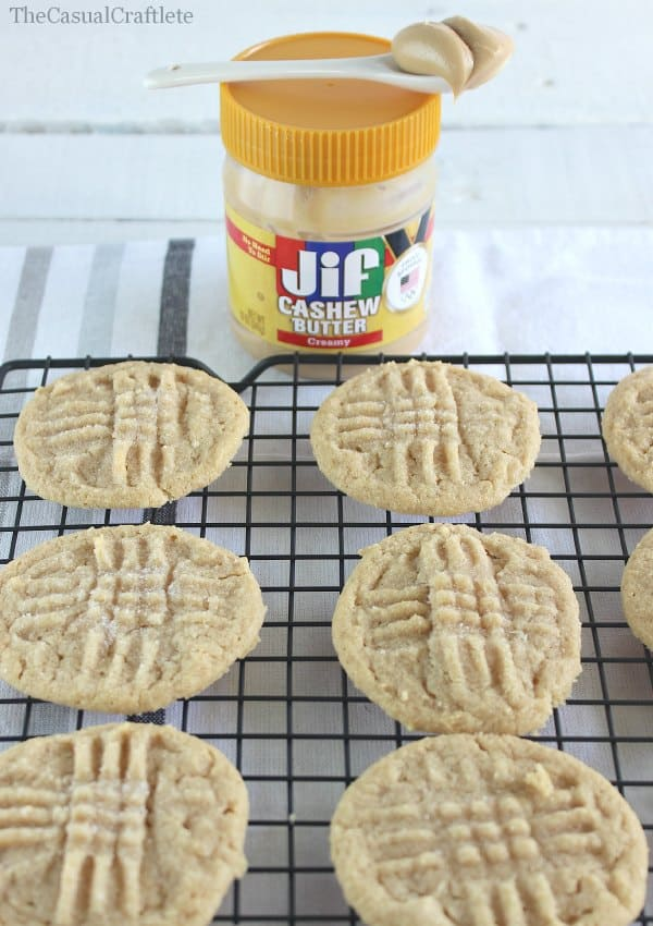 Cashew Butter Cookies   www.thecasualcraftlete.com for www.placeofmytaste.com