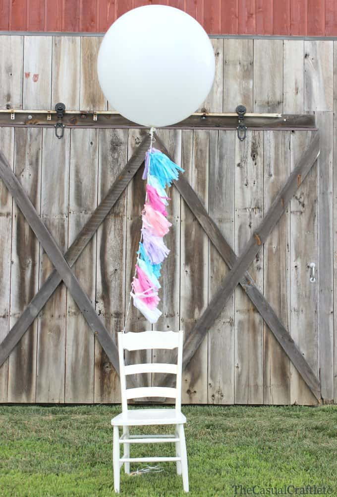 DIY Tissue Paper Balloon Tassels by www.thecasualcraftlete.com