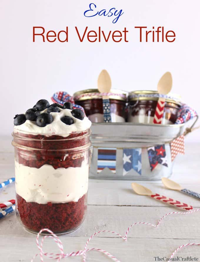 Easy Red Velvet Trifle by www.thecasualcraftlete.com