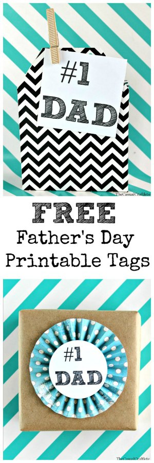 Free Father's Day Printable Tags by The Casual Craftlete.com