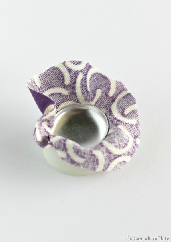 How to make fabric button earrings by The Casual Craftlete for The Crafting Chicks