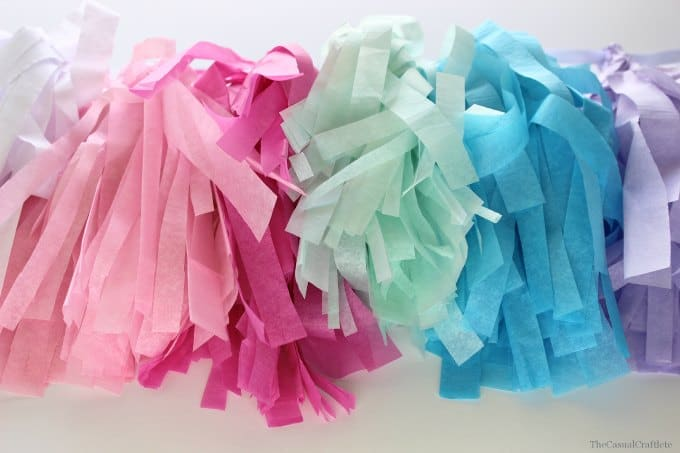 Tissue Paper Tassel Banner  www.thecasualcraftlete.com
