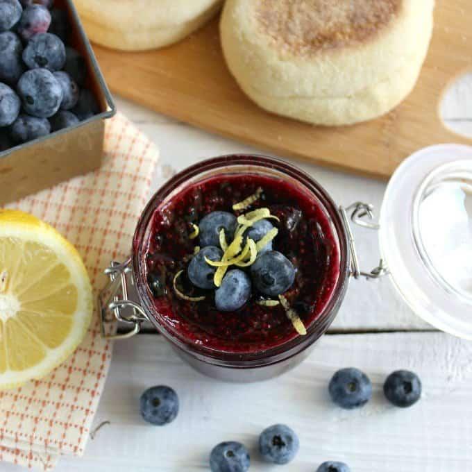Lemon Blueberry Chia Jam