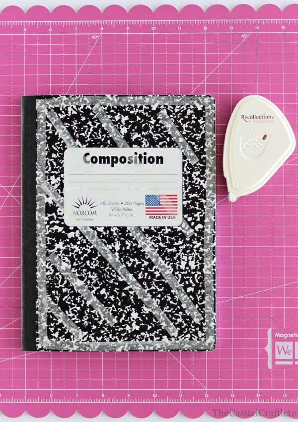 DIY Scrapbook Notebook by www.thecasualcraftlete.com for www.thecraftingchicks.com