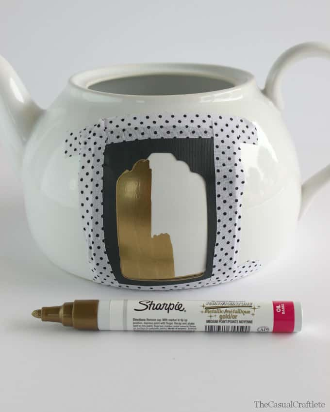 How to make a stencil for oil sharpie crafts www.thecasualcraftlete.com